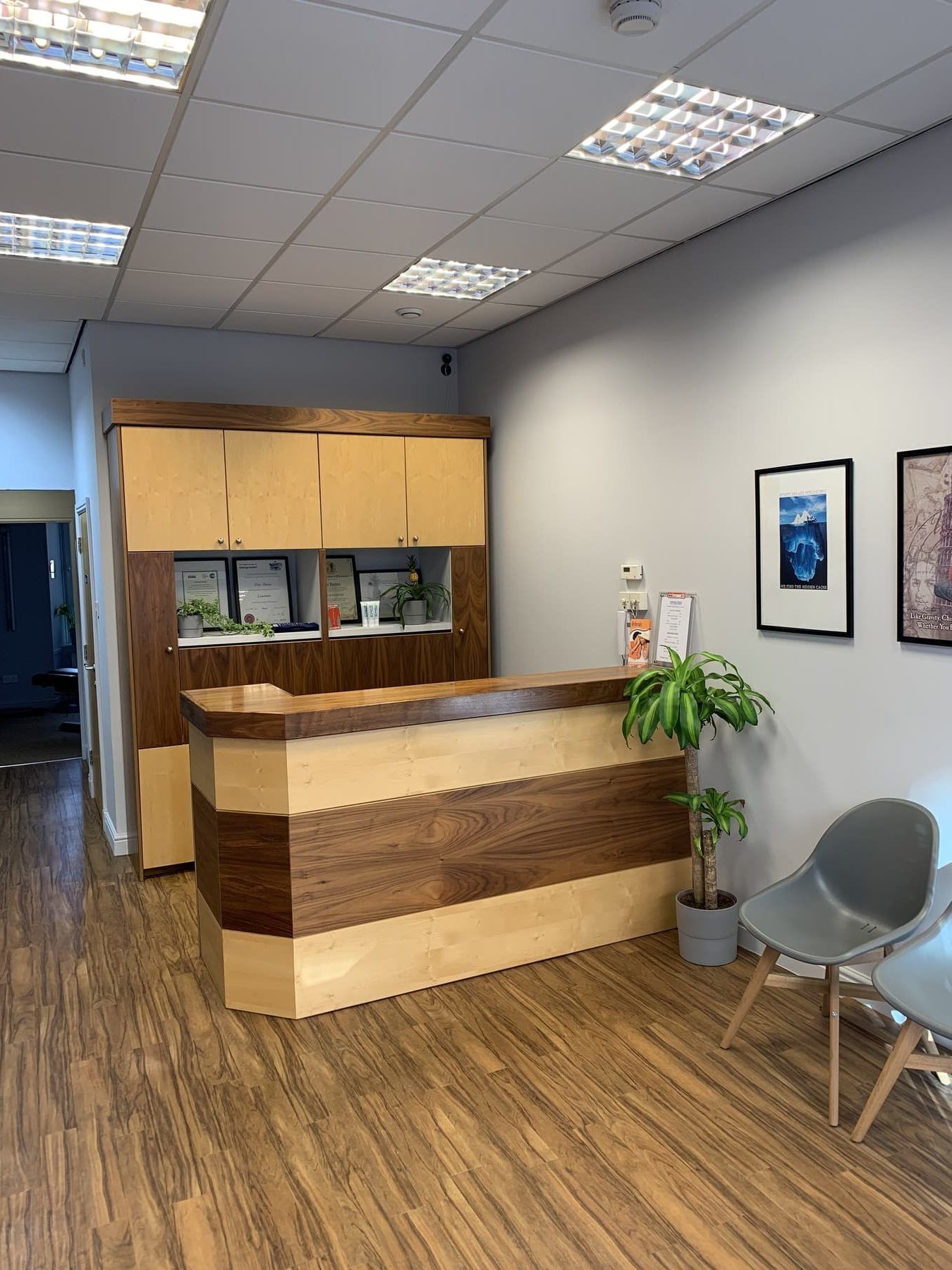 About us deluca chiropractic reception area