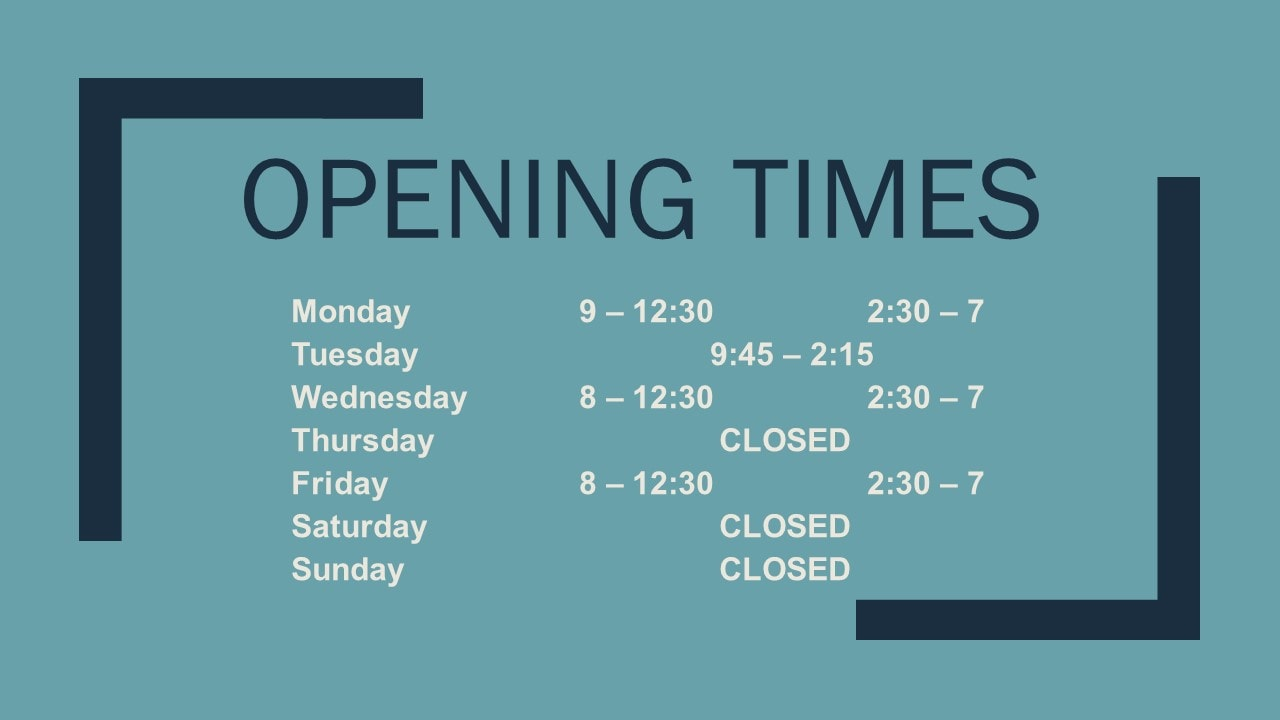 Deluca Chiropractic opening times